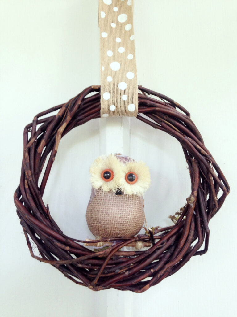 Fall Owl Wreath Easy Dollar Store Craft