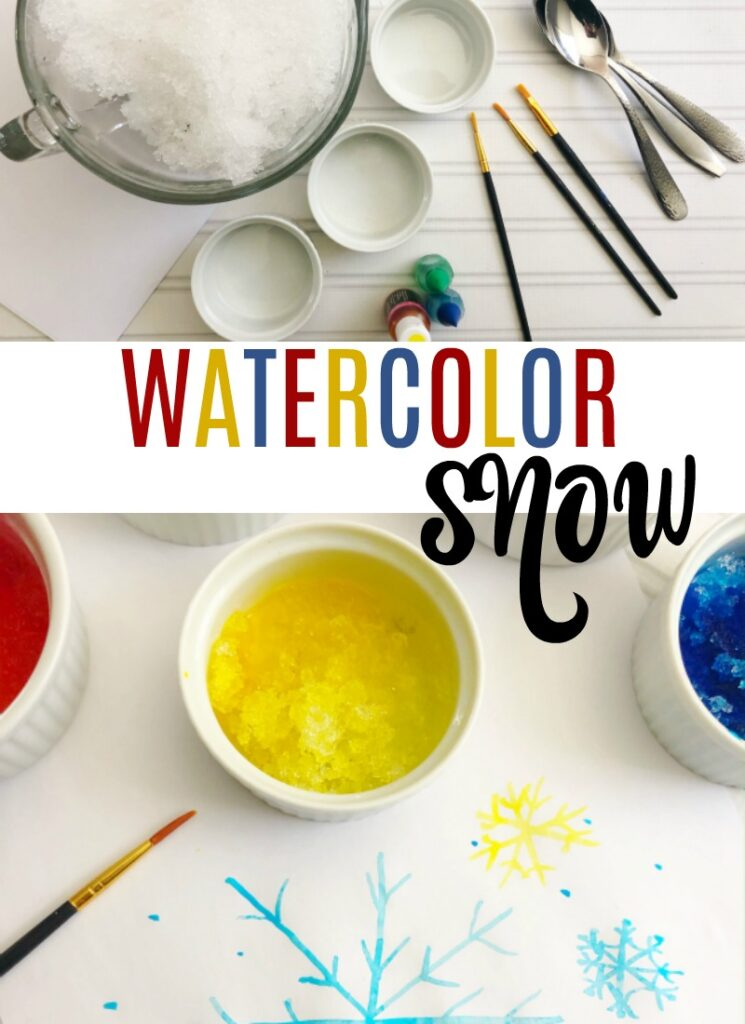 Watercolor Snow Paint Craft for Kids