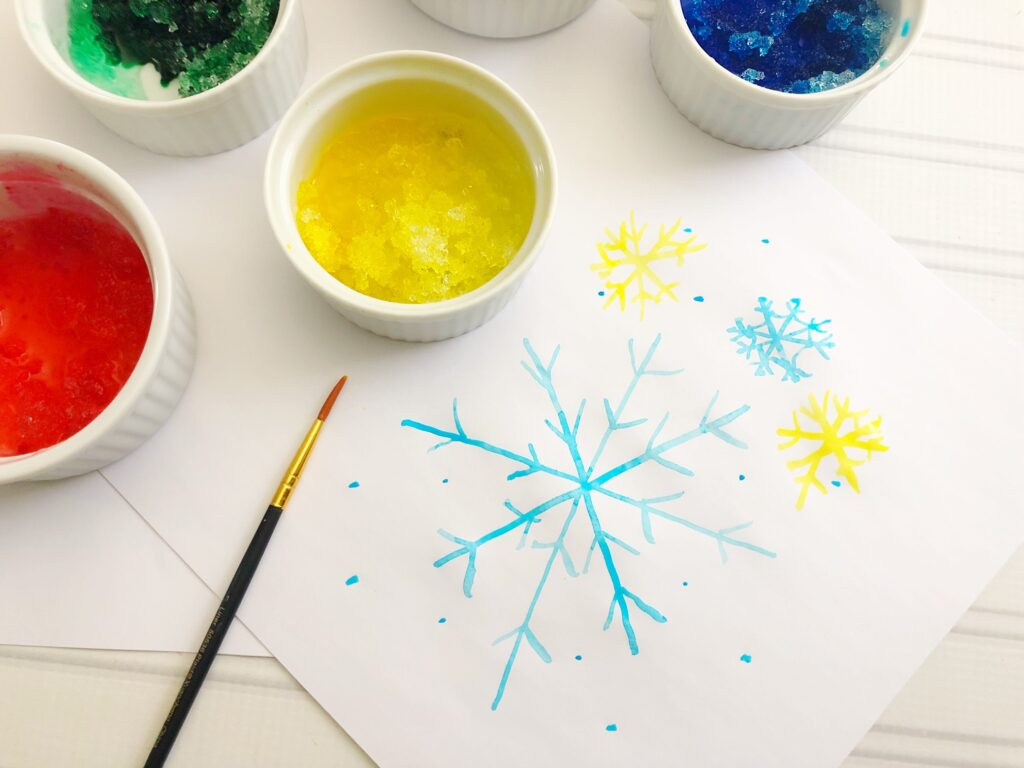 Water Color Snow Paint Craft