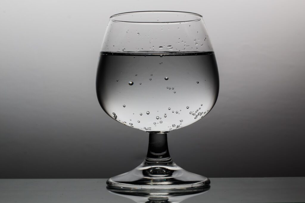 nice glass of water waiting to be drank